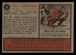 1962 Topps #26  Chris Cannizzaro  Back Thumbnail