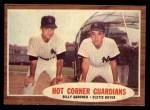 1962 Topps #163 A Hot Corner Guardians  -  Billy Gardner / Clete Boyer Front Thumbnail