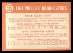 1964 Topps #243   -  Rich Allen / John Herrnstein Phillies Rookies Back Thumbnail