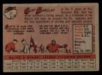 1958 Topps #21   Curt Barclay Back Thumbnail