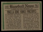 1974 Topps Traded #390 T  Lou Piniella Back Thumbnail