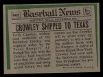 1974 Topps Traded #648 T  Terry Crowley Back Thumbnail