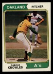 1974 Topps #57   Darold Knowles Front Thumbnail