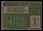 1974 Topps #422   Gonzalo Marquez Back Thumbnail