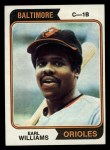 1974 Topps #375   Earl Williams Front Thumbnail