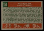 1959 Topps #156  Ace Hurlers  -  Billy Pierce / Robin Roberts Back Thumbnail