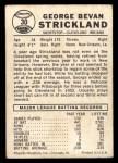 1960 Leaf #30   George Strickland Back Thumbnail
