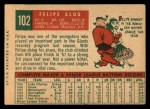 1959 Topps #102   Felipe Alou Back Thumbnail