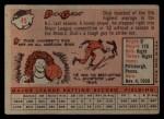 1958 Topps #45   Dick Groat Back Thumbnail