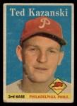 1958 Topps #36   Ted Kazanski Front Thumbnail