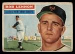 1956 Topps #104   Bob Lennon Front Thumbnail