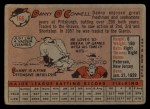 1958 Topps #166  Danny O'Connell  Back Thumbnail