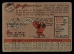 1958 Topps #344   Bob Porterfield Back Thumbnail