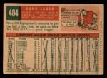 1959 Topps #404  Hank Sauer  Back Thumbnail