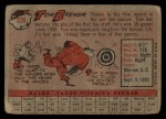 1958 Topps #220  Tom Brewer  Back Thumbnail