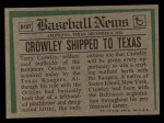 1974 #648 T Terry Crowley  Back Thumbnail