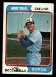1974 Topps #253   John Boccabella Front Thumbnail