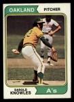 1974 Topps #57   Darold Knowles Front Thumbnail