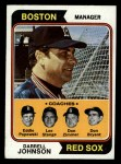 1974 Topps #403  Red Sox Field Leaders    -  Darrell Johnson / Don Bryant / Eddie Popowski / Lee Stange / Don Zimmer Front Thumbnail