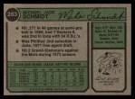 1974 Topps #283   Mike Schmidt Back Thumbnail