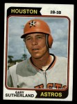 1974 Topps #428   Gary Sutherland Front Thumbnail