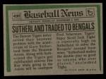 1974 Topps Traded #428 T  Gary Sutherland Back Thumbnail