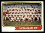 1974 Topps #416   White Sox Team Front Thumbnail