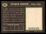 1969 Topps #257   Charlie Durkee Back Thumbnail