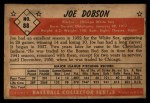 1953 Bowman #88   Joe Dobson Back Thumbnail