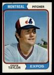 1974 Topps #412   Chuck Taylor Front Thumbnail