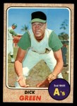 1968 Topps #303   Dick Green Front Thumbnail