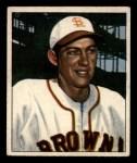 1950 Bowman #142   Sherm Lollar Front Thumbnail