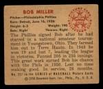 1950 Bowman #227  Bob Miller  Back Thumbnail