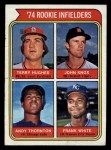 1974 Topps #604  Rookie Infielders    -  Terry Hughes / John Knox / Andy Thornton / Frank White Front Thumbnail
