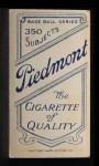 1909 T206 #217 PRV Izzy Hoffman  Back Thumbnail