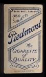 1909 T206 #12  Herman Armbruster  Back Thumbnail