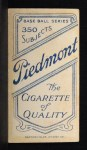 1909 T206 #404  Bugs Raymond  Back Thumbnail