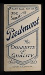 1909 T206 #266  Rube Kroh  Back Thumbnail