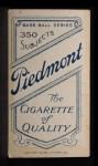 1909 T206 #10  John Anderson  Back Thumbnail