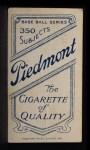 1909 T206 #5  Doc Adkins  Back Thumbnail
