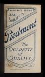 1909 T206 #20  Jack Barry  Back Thumbnail