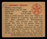 1950 Bowman #243  Johnny Groth  Back Thumbnail