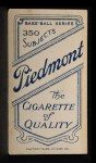 1909 T206 #103  Bunk Congalton  Back Thumbnail