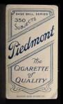 1909 T206 #393  Deacon Phillippe  Back Thumbnail