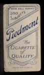 1909 T206 #361  Rebel Oakes  Back Thumbnail