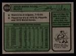 1974 Topps #654 ERR Jesus Alou   Back Thumbnail