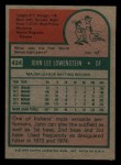 1975 Topps Mini #424   John Lowenstein Back Thumbnail
