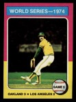 1975 Topps Mini #463  1974 World Series - Game #3  -  Rollie Fingers Front Thumbnail