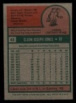 1975 Topps Mini #43  Cleon Jones  Back Thumbnail
