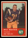 1963 Fleer #12  Bill Mathis  Front Thumbnail